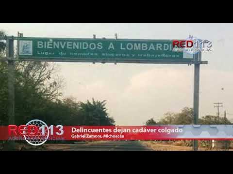 VIDEO Delincuentes dejan cadáver colgado  de un puente peatonal en Lombardía