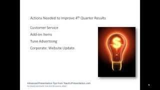 Corporate Presentation Tip: Use Fewer Words per Slide