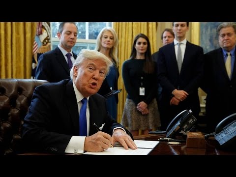 Trump's Executive Actions Reverse Obama Policies on Torture, Healthcare & Guantánamo Bay