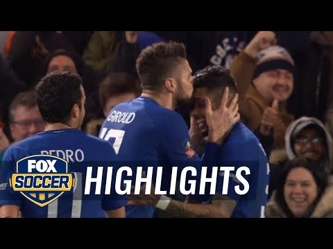 Olivier Giroud scores his first Chelsea goal against Hull City   2017-18 FA Cup Highlights