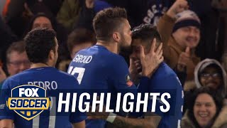 Olivier Giroud scores his first Chelsea goal against Hull City | 2017-18 FA Cup Highlights