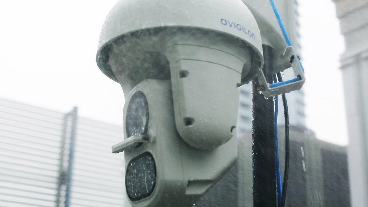 H4 IR PTZ Camera Line | Water Spray and Debris Test
