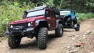 Traxxas TRX4 Defender | TRX4 Rubicon JK | Transportation And Rock Trail