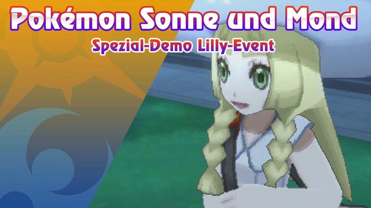 Pokémon Sonne und Mond Spezial-Demo - Lilly-Event - YouTube