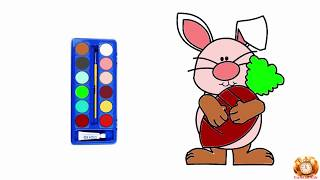 How to Draw Cute Animal Rabbit Hush Little Baby The Finger Family