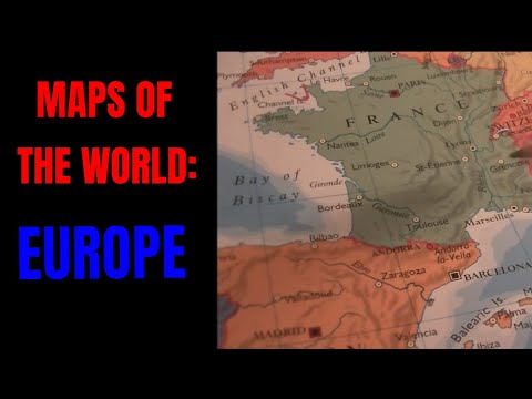 [ASMR] Maps of the World. Part 2: Europe