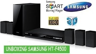 Unboxing Home Theater Blu-ray 3D Samsung HT-F4500