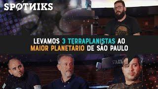 Allan Silwa, Anderson Neves, Jota Marthins e João Fonseca, no maior planetário de São Paulo.
