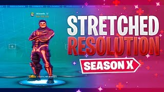 Fortnite NEW STRETCHED RESOLUTION *After Patch^ Season 10 | Fortnite MORE FOV Glitch (135 Fov)