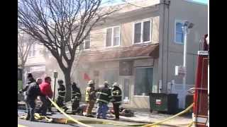 Hasbrouck Heights NJ Fire Dept 3rd Alarm Fire 313 Boulevard 2 story mixed occupancy