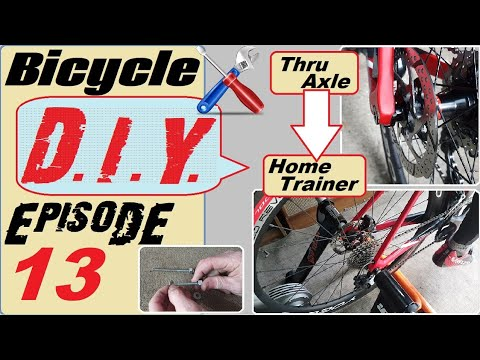 Put your thru axle bike onto your home trainer