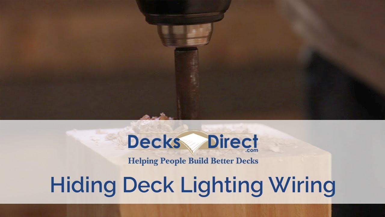 How To Hide Deck Lighting Wires Deck Post Lights Wiring Diagram on