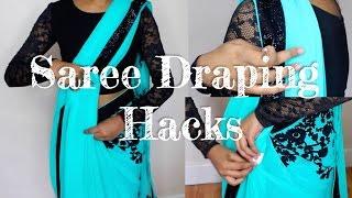 7 Quick & Easy Saree Draping HACKS!! | Thuri Makeup