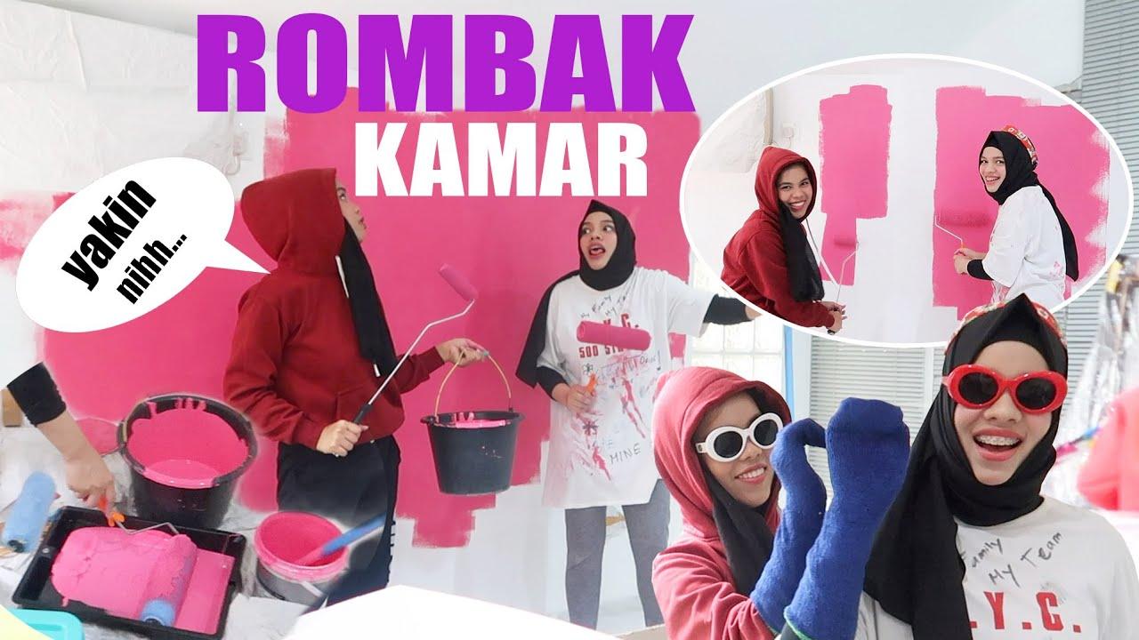 PERTAMA KALI Ngecat Kamar Sendiri, Part 2 Dekor Kamar Sajidah & Iyyah, Bikin NGAKAK!!!