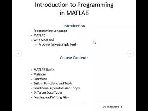 MATLAB Programming for Beginners | #1 Source of Tutorials in Urdu
