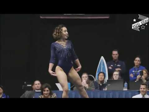 Американская гимнастка выполняет головокружительные трюки под хиты Майкла Джексона