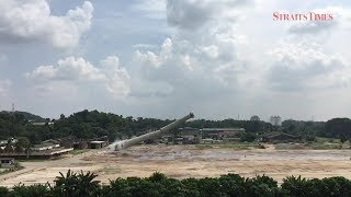 53-year old stack demolished within 10 seconds in Shah Alam