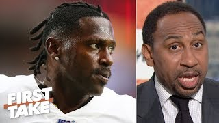 Antonio Brown's behavior is embarrassing - Stephen A. is over the helmet drama | First Take