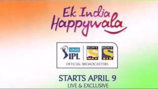 Ek India Happywala¦¦Theme Song¦¦Vivo IPL 2016¦¦Lyrics in Description