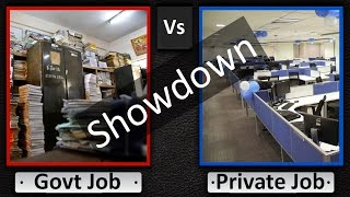 Government Jobs vs Private Jobs.. Best Comparison video