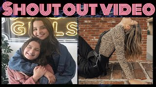 Shout out video💖💖💖💖