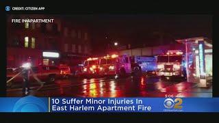 East Harlem Fire Injures 10 People