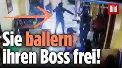 Gangster schießen ihre Boss vor Gericht frei – unfassbare Bilder!