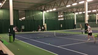 Andy Hill Cardio Tennis Hit and Split drill with smash and sprint smash progression