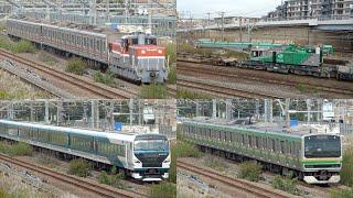 東急3000系3003F 鉄道クレーン車 甲種輸送・E257系NA-03+NC-31編成 E231系S-28編成 試運転