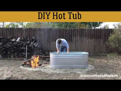How to Create a DIY Wood Fired Hot Tub