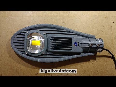 Inside a stylish LED street light from eBay.