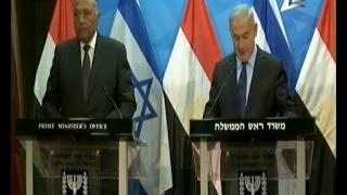 مؤتمر صحفي لسامح شكري وبنيامين نتنياهو رئيس الوزراء الإسرائيلي 10-7-2016