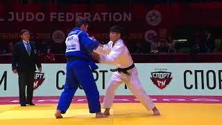 Hifumi Abe JPN - Dzmitry Minkou BLR 1:0 -66Kg Grand Slam Ekaterinburg 2018 Semi Final