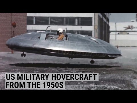 The US military tried to develop a hovercraft in the 1950s
