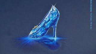 Cómo dibujar la zapatilla de cristal de la Cenicienta