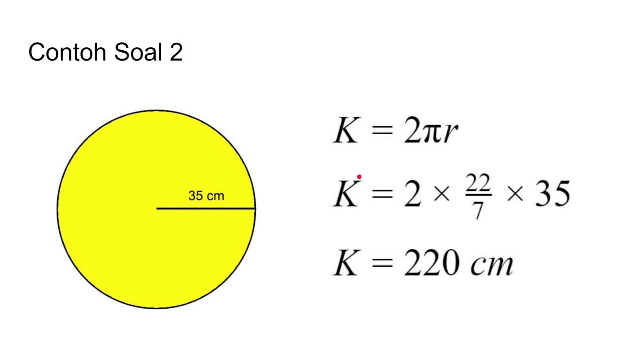 Cara Menghitung Luas Lingkaran Dan Keliling Lingkaran Materi Lengkap Contoh Soal Youtube