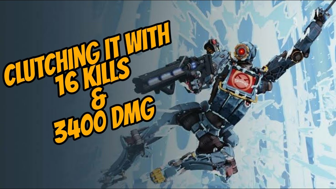 Clutching it with 16kills and 3400 dmg!!! (hemlok & r99 loadout) Apex legends gameplay