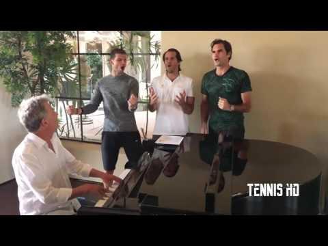 TENNIS FUNNY MOMENT 2017 - Roger Federer & Dimitrov & Djokvick