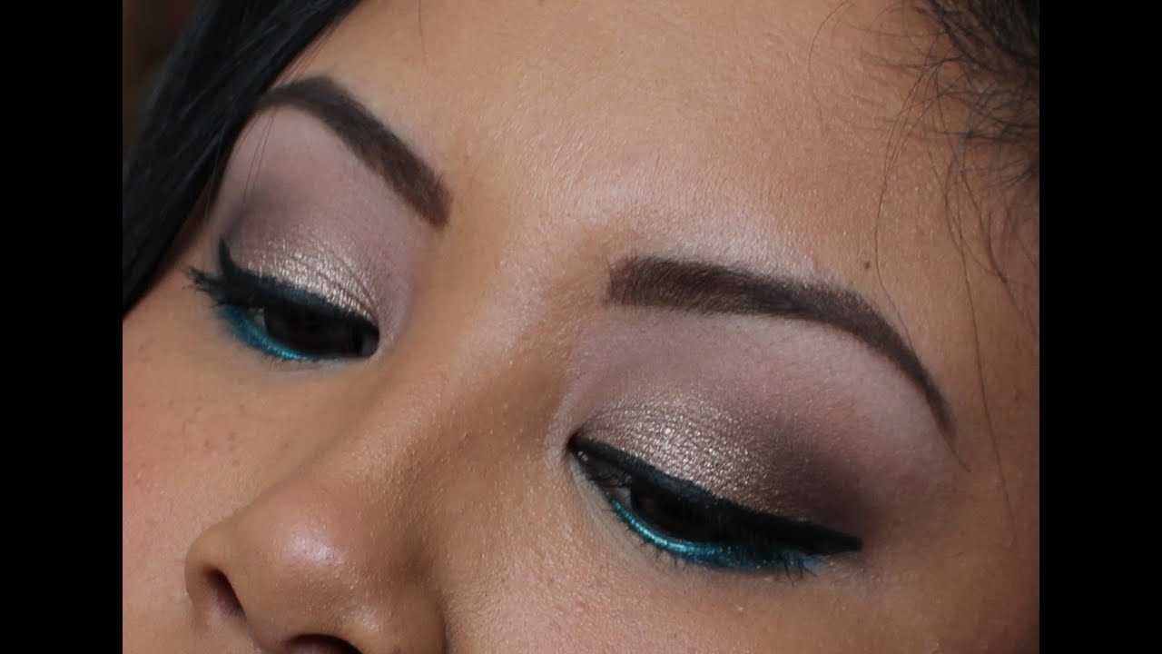 Tutorial neutral w a pop of teal feat maybellines color tutorial neutral w a pop of teal feat maybellines color tattoo eyeshadows youtube baditri Image collections