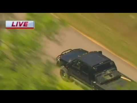 Houston Police Bizarre Chase Driver Swim in Brazos River (3 28 16)