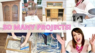 3 Furniture Flip Projects for Profit to Pay Off Debt PLUS Baby Gender Reveal 14 Weeks Pregnant