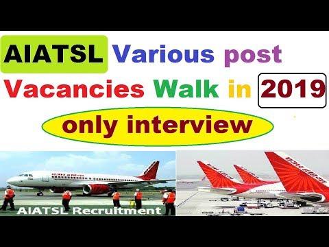 ✈Air India Veccancy-AIATSL Various Vacancies Walk in 2019-No Exam-Golden change