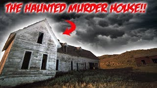 THE HAUNTED MURDER HOUSE! FOUND BLOOD EVERYWHERE