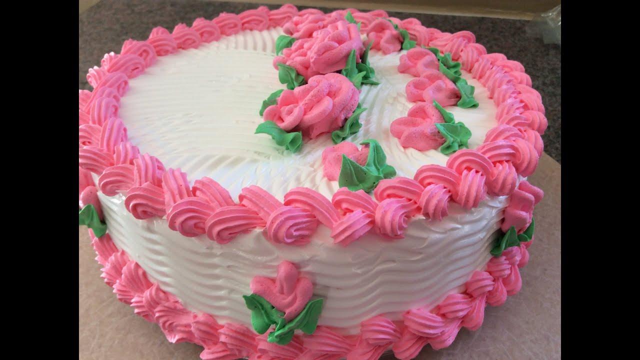 Como hacer rosas de chantilly muy facil youtube - Decoracion de tortas ...