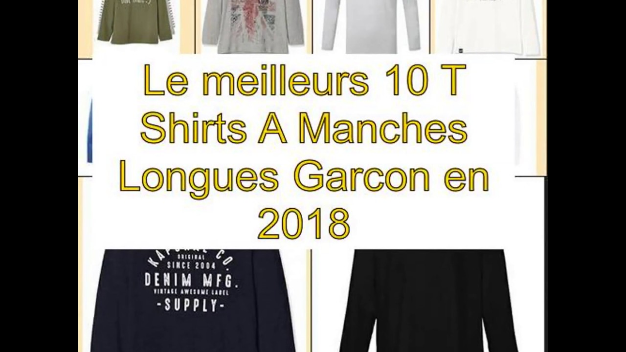 b731b1a78688e Le meilleurs 10 T Shirts A Manches Longues Garcon en 2018 - YouTube