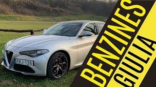 Alfa Giulia 2.0 benzin teszt