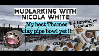 My BEST EVER clay pipe bowl yet! - Mudlarking the River Thames with Nicola White