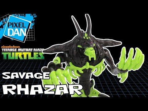 Savage Rhazar Teenage Mutant Ninja Turtles Nickelodeon Action Figure Video Review