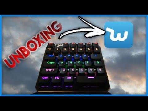 UNBOXING d'un clavier mécanique à une main de chez Wish 😁