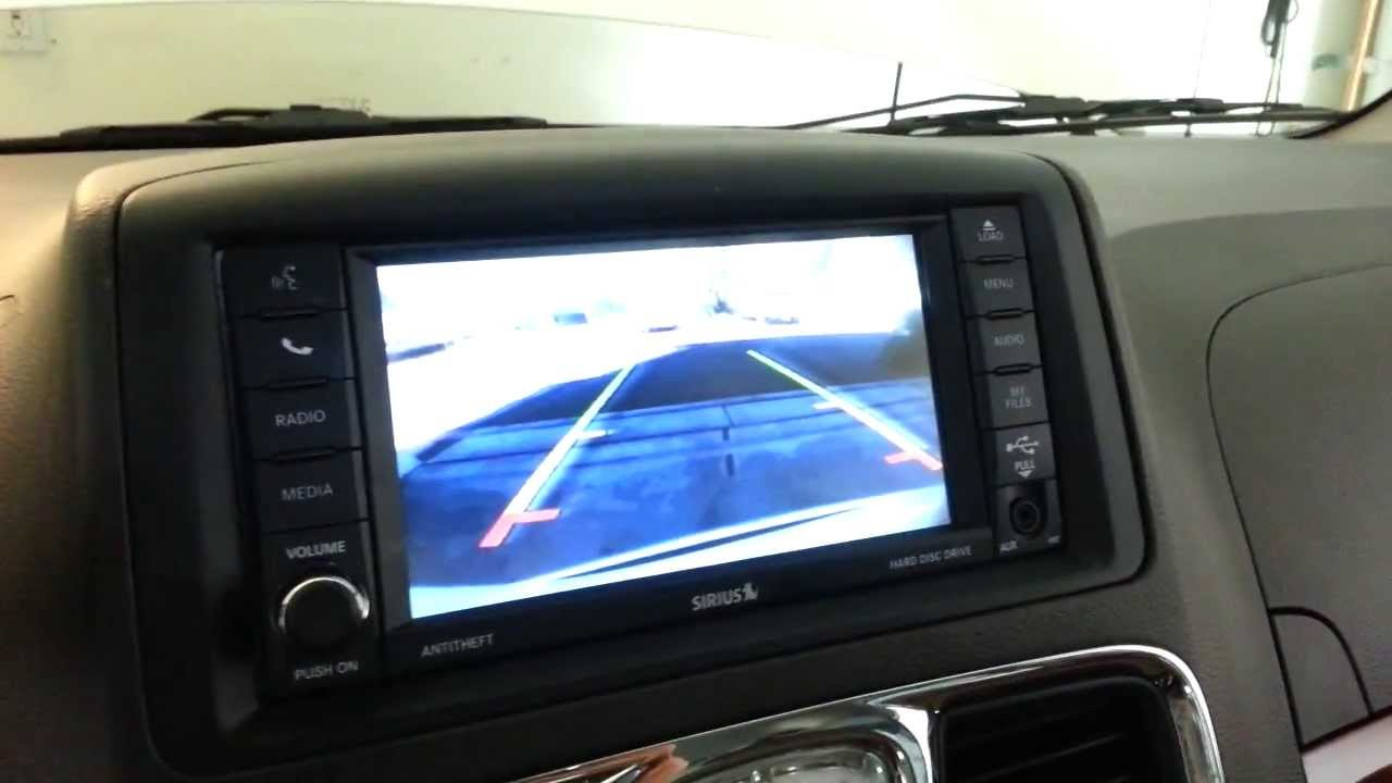 2012 chrysler town country testing out back up camera. Black Bedroom Furniture Sets. Home Design Ideas